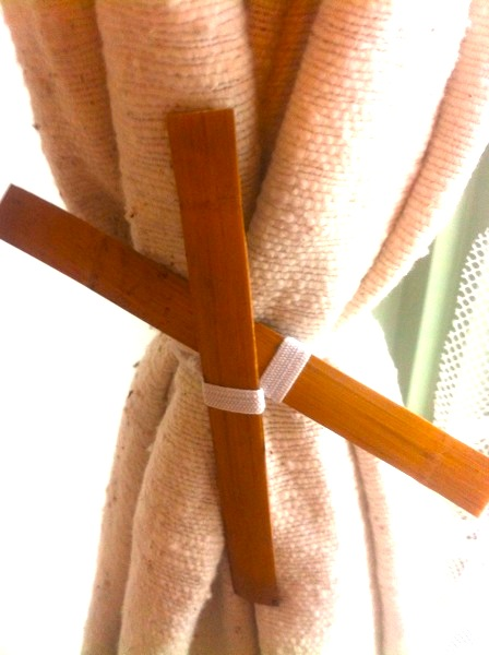 Save money on home decorating   Wooden curtain ties