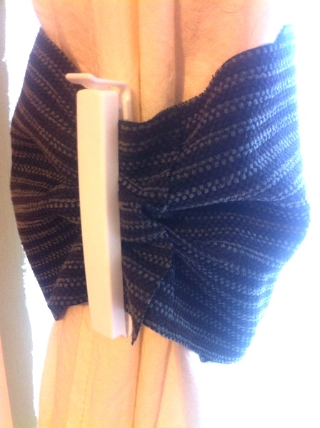 Brown striped curtain ties fit for a true gentleman!