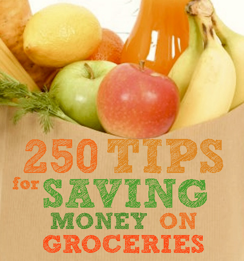coupons | 250 tips for saving money on groceries