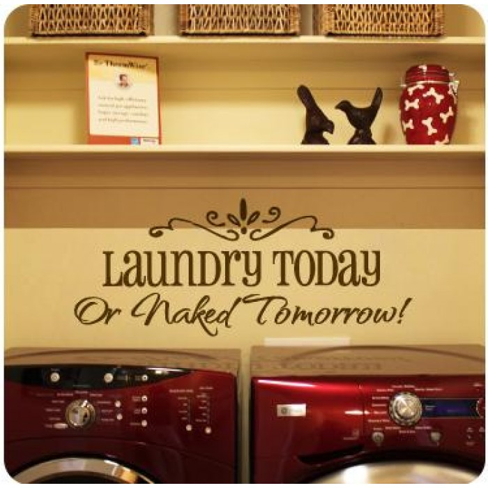 Source: Wall Sticker Cool wall decals - laundry - Cheap home decor! 12 reasons to invest in wall decals