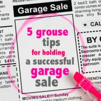 How to have a successful garage sale – 5 grouse tips