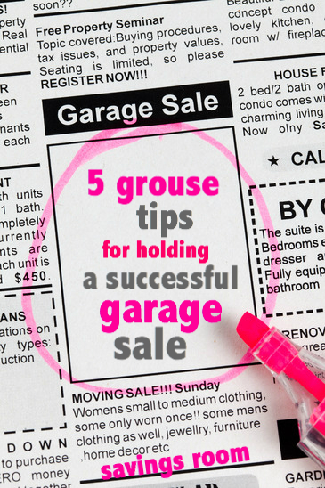 Have a successful garage sale