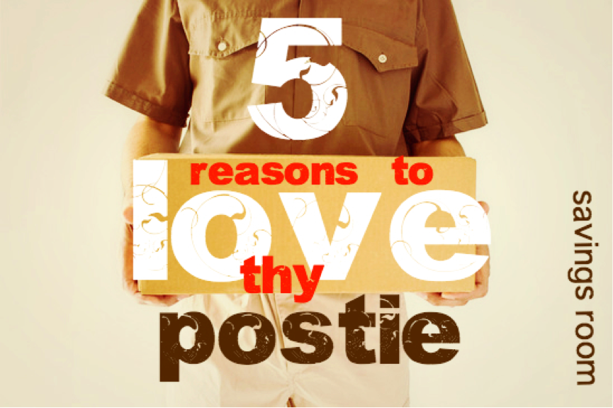 Saving tips | 5 reason to love thy postie