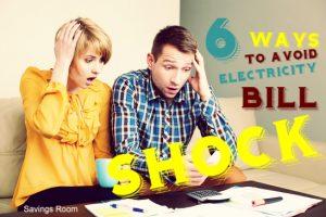 6 Ways Avoid Electricity Bill Shock