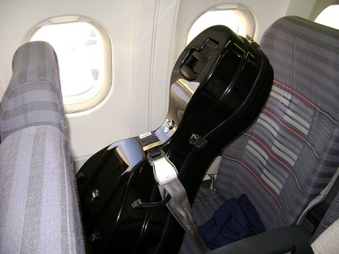 travel mishaps - A cello onboard a flight e1346129975882 - 20 crazy travel mishaps and tips for avoiding them