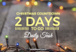 Christmas Countdown – Daily Task –2 Day to Go