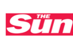 the sun logo on white
