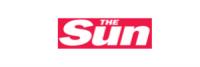 the sun logo on white